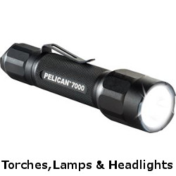 pelican torches, lights and headlights