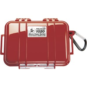 PELICAN # 1020 MICRO CASE - RED WITH BLACK