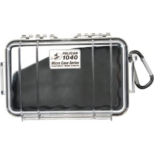 PELICAN # 1040 MICRO CASE - CLEAR WITH BLACK