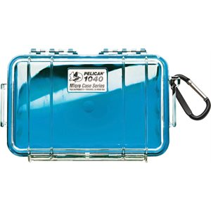 PELICAN # 1040 MICRO CASE - CLEAR WITH BLUE