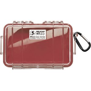 PELICAN # 1040 MICRO CASE - CLEAR WITH RED