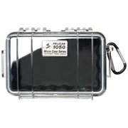 PELICAN # 1050 MICRO CASE - CLEAR WITH BLACK