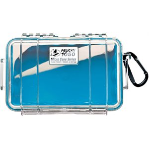 PELICAN # 1050 MICRO CASE - CLEAR WITH BLUE