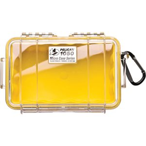 PELICAN # 1050 MICRO CASE - CLEAR WITH YELLOW