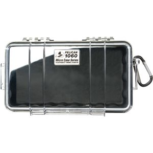PELICAN # 1060 MICRO CASE - CLEAR WITH BLACK