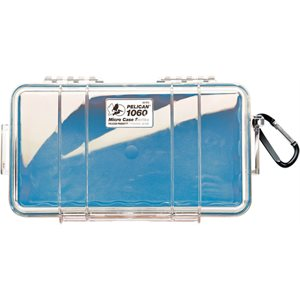 PELICAN # 1060 MICRO CASE - CLEAR WITH BLUE