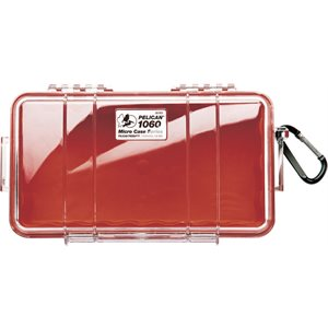 PELICAN # 1060 MICRO CASE - CLEAR WITH RED
