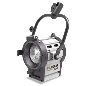FILMGEAR LIGHTING 300W JUNIOR LAMPHEAD INCL. 4-LEAF BARNDOOR W /  SAFETY WIRE, 80MM LENS & 4MTR CABLE
