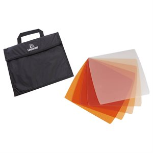LITE PANELS ASTRA 1X1 5-PIECE CTO GEL SET WITH BAG