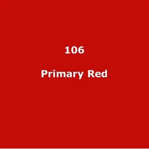 LEE FILTERS 106 PRIMARY RED SHEET