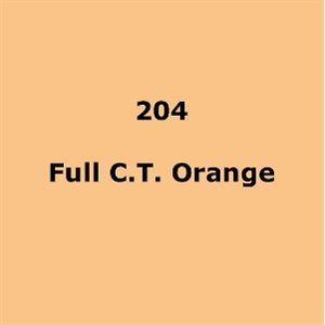 LEE FILTERS 204 FULL CT ORANGE SHEET