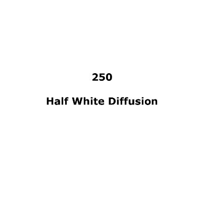 LEE FILTERS 250 HALF WHITE DIFFUSION SHEET