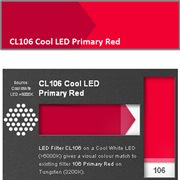 LEE FILTERS ROLL COOL LED PRIMARY RED
