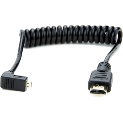 ATOMOS COILED RIGHT-ANGLE MICRO TO FULL HDMI CABLE