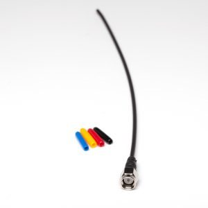 Antenna straight black with nickel plated SMA connector.