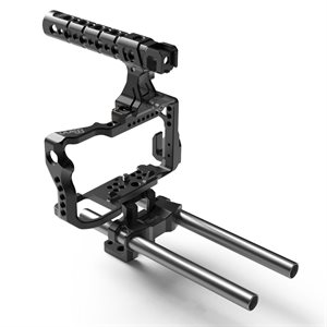 8Sinn Sony A6300 Cage + Top Handle Pro + 15mm Universal Rod Support