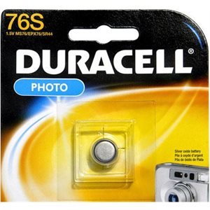 DURACELL MS76B 1.5 SILVER BUTTON BATTERY