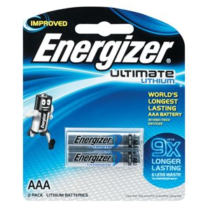 ENERGIZER AAA LITHIUM BATTERY (TWIN PACK)
