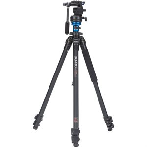 A1573F Series 1 AL Video Tripod & S2 Head - Leveling Column, 3 Leg Sections, Flip Lock Leg Release