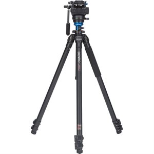 A2573F Series 2 AL Video Tripod & S4 Head - Leveling Column, 3 Leg Sections, Flip Lock Leg Release