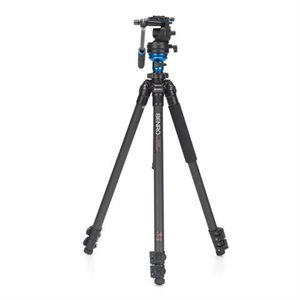 C1573F Series 1 CF Video Tripod & S2 Head - Leveling Column, 3 Leg Sections, Flip Lock Leg Release