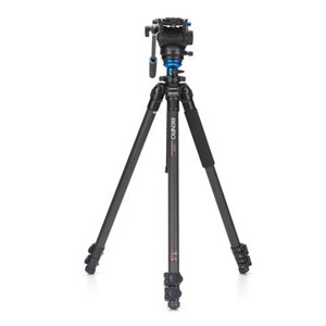 C2573F Series 2 CF Video Tripod & S4 Head - Leveling Column, 3 Leg Sections, Flip Lock Leg Release