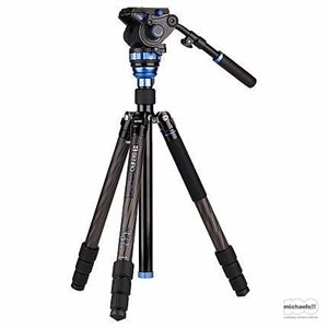 Aero7 Travel Angel Video Carbon Fibre Tripod Kit - C3883T with Leveling Column & S7 Head