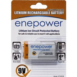 ENEPOWER LP702235 500mAh 9V R / C BATTERY