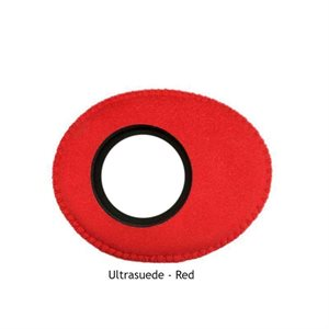 BLUESTAR EYEPIECE SMALL OVAL ULTRASUEDE RED