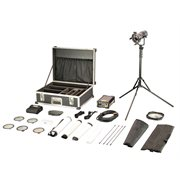 FILMGEAR LIGHTING 1 X 200WHEAD , B-DOOR, 5 LENSES & BAG, CABLE, STAND, SOFT BOX AND 1 X 200W EB V3 W / PFC 300HZ, AC / DC