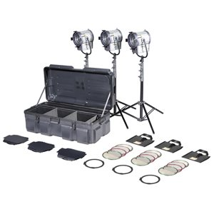 FILMGEAR LIGHTING TUNGSTEN FRESNEL KIT 3 X 1K