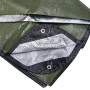 SPACE BLANKET 60X72 INCH OLIVE GREEN
