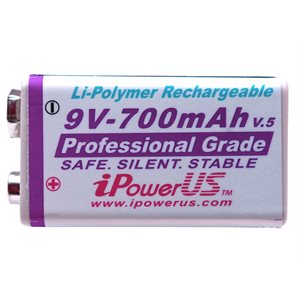 IPOWER 9V 700 MA LI-POLY RECHARGE BATTERY