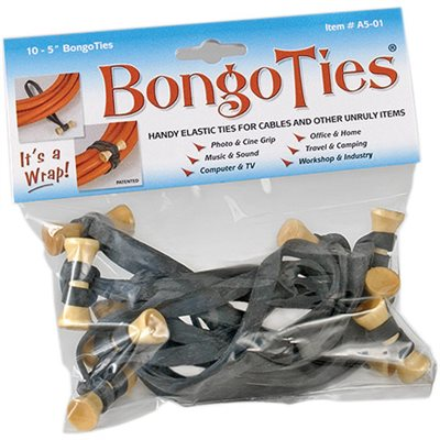 BongoTies  Black 10-Pack