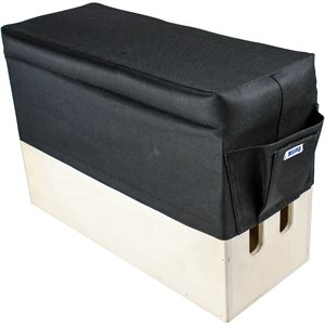 APPLE BOX SEAT CUSHION BLACK- VERTICAL SIZED 20X 50(CM)