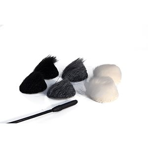 RYCOTE BLACK OVERCOVERS: 30 X STICKIES & 6 X BLACK FUR DISCS