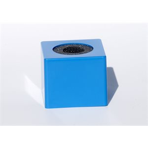 NAB MIC FLAG PLASTIC BLUE SQUARE