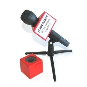 NAB MICROPHONE FLAG SQUARE RED