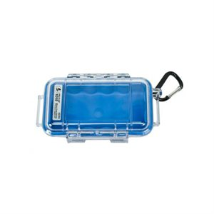 PELICAN # 1015 MICRO CASE - CLEAR WITH BLUE
