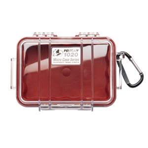 PELICAN # 1020 MICRO CASE - CLEAR WITH RED