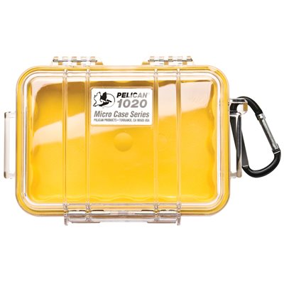 PELICAN # 1020 MICRO CASE - CLEAR WITH YELLOW