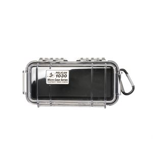 PELICAN # 1030 MICRO CASE - CLEAR WITH BLACK