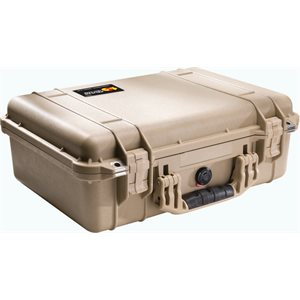 PELICAN #1500 CASE WITH PADDED DIVIDER SET - DESERT TAN