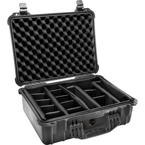 PELICAN # 1520 CASE WITH PADDED DIVIDER SET - BLACK