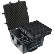 PELICAN # 1640 CASE WITH PADDED DIVIDER SET - BLACK