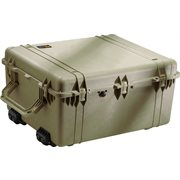 PELICAN # 1690 CASE WITH PADDED DIVIDER SET - OLIVE DRAB GREEN