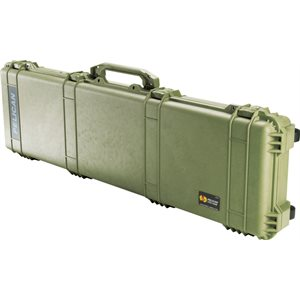 PELICAN # 1750 WEAPONS CASE NO FOAM - OLIVE DRAB GREEN