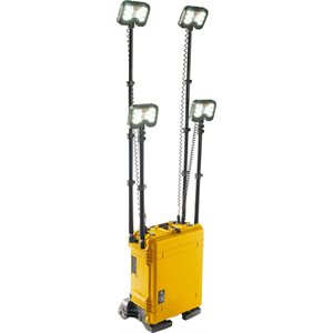 Pelican 9470M 2-head Remote Area Lighting System Gen 3 Mobility- Yellow