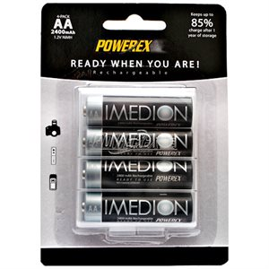 POWEREX 2400I IMEDION 4 PK R / C AA BATTS