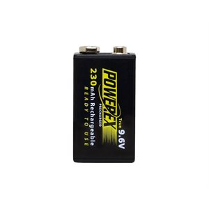 POWEREX IMEDION 250I 9V 250MAH TRUE 9V R / C BATTERY